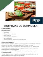 MINI PIZZAS DE BERINGELA