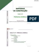 MC-LTGM Aulas 3 e 4 – Polímeros
