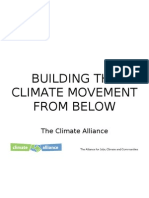 Building the climate movement from below