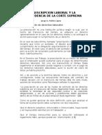 LA PRESCRIPCION LABORAL Y LA JURISPRUDENCIA DE LA CORTE SUPREMA.doc