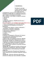 Plam de Emergencia - DS. 024