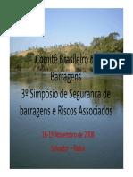 Pequenas Barragens de Terra e Enrocamento - Cruz, 2008