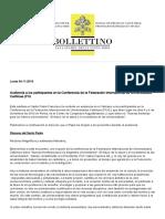 AUDIENCIA PAPAL-FIUC (04-11-19)