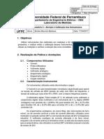 Relatório 2 - Aferição e calibração dos instrumentos