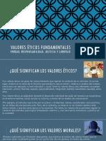 Valores éticos fundamentales Tema 2