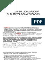 ISO 14001  SECTOR EDUCATIVO