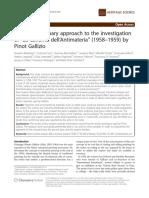 A multidisciplinary approach to the investigation of La Caverna dell'Antimateria by Pinot Gallizio