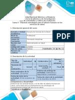 Guía de Actividades y Rubrica de Evaluación - Tarea 5- Plantear estrategias para el talento humano en los servicios de salud