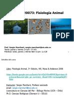 Fisiología animal - Clase 0 - Introducción y programa
