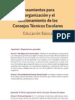 5 lineamientos para la organizacion y funcionamiento de los cte