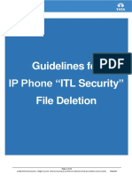 ITL File Deletion Process for IP Phone Ver 1.1
