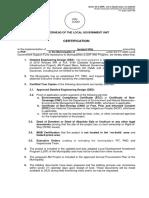 MLGU Certification -DRR Annex 2C-4 -Not in Hazard Zone, no website