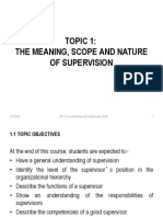 TOPIC 1 Meaning, nature and Scope of Supervision(1)