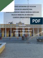 Análisis del contexto urbano arquitectónico del Palacio Municipal de Hunucmá