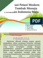 Regenerasi Petani Modern Ujung Tombak Menuju Pertanian Indonesia Maju