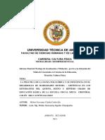 TESIS LA PRACTICA DE LA DANZA FOLCLORICA Y SU INFLUENCIA EN LAS HABILIDADES MOTORA - ARTISTICAS