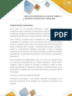 CONSENTIMIENTO INFORMADO DE PSICOLOGO INVESTIGATIVO SOBRE CASO DE PSICOLOGÍA Y RURALIDAD