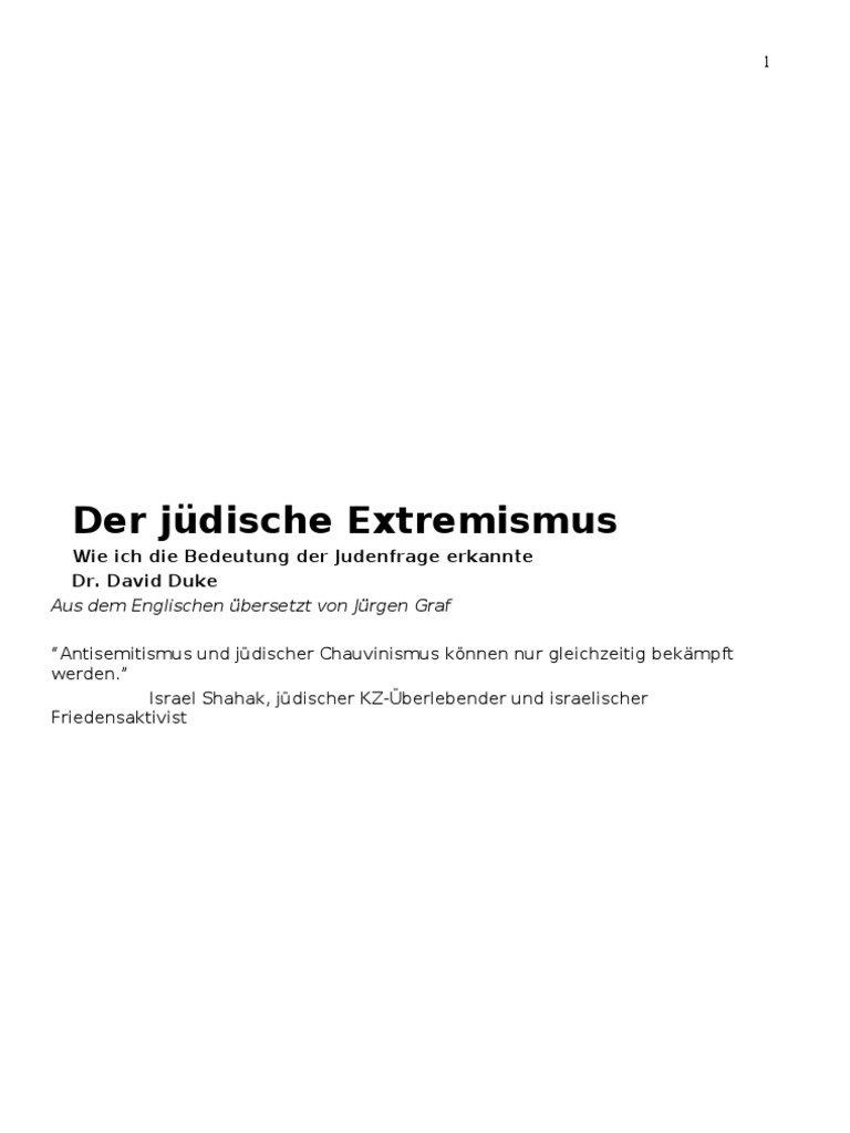 Duke ,David - Der jüdische Extremismus