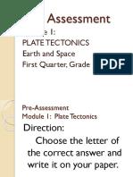 pre-assessment - module 1