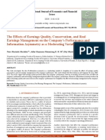 The Effects of Earnings Quality, Conservatism, and Real Earnings Management on the Company___s Performance and Information Asymmetry as a Moderating Variable[#354485]-365757