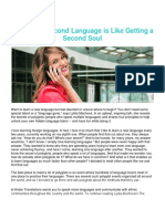 Newsletter 012020 - Learning a Second Language