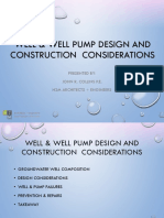 WELL & WELL PUMP DESIGN AND CONSTRUCTION  CONSIDERATIONS