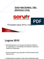 SERVIR - Logros 2010 y Metas 2011