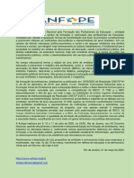 Manifesto  ANFOPE em defesa da educação e da democracia 01032020