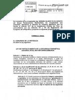 expediente de proyecto de Ley 3934 2009