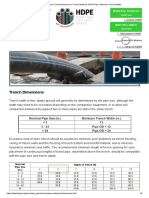 Standard Trench Dimensions _ Trench Width for HDPE Pipe _ Minimum Trench Widths