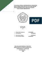 LAPORAN ANALISA JURNAL GERONTIK A,B,C,E