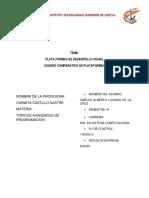 Plataformas de desarrollo visual  TAREA1