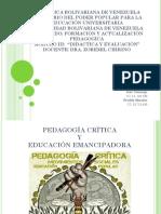 PRESENTACION PEDAGOGIA CRITICA Y EDUCACION EMANCIPADORA