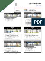 Calendar 2008-2009 Simprug