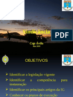 Direito Militar - Sindicância - 2019