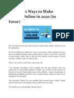65 Genius Ways to Make Money Online in 2020