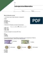 Guía de actividades de matemáticas