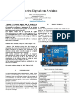 Voltímetro Digital con Arduino