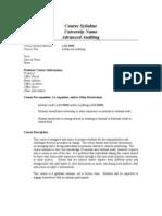 Advanced Auditing - Sample Syllabus