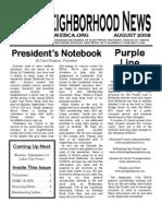 EBCA Newsletter - August 2008