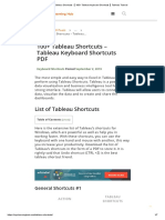 Tableau Shortcuts 【 100+ Tableau keyboard Shortcuts 】Tableau Tutorial