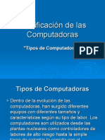 Clasificacion de Las PCs