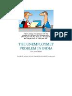 THE UNEMPLOYMET PROBLEM IN INDIA