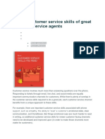 The 16 Customer service skills of great customer service agents