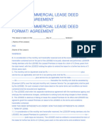 SAMPLE COMMERCIAL LEASE DEED FORMAT