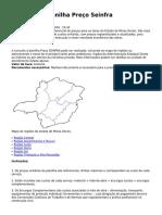 Consulta à Planilha Preço Seinfra _ Secretaria de Estado de Infraestrutura e Mobilidade de Minas Gerais - SEINFRA