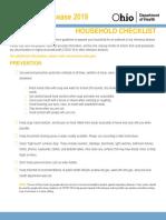 COVID-19 checklist