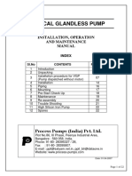 Installation Procedure for Vertical Glandless Process Pump