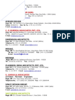 firms list, Architects in Delhi.