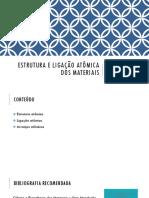 Aula 2 - Estrutura e ligação atômica dos materiais.pdf